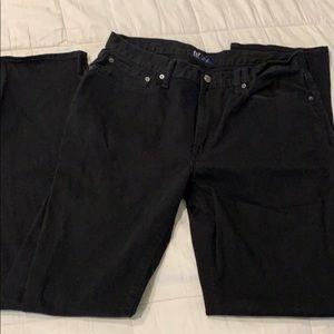 Black Gap men's straight leg jeans 34x34